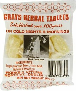 Gray's Hard Boiled Herbal Tablets - 5 x 60g - Super Fast Delivery