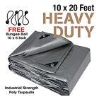 Premium Heavy Duty Canopy Tarp Poly Tarpaulin Reinforced Tent Car Boat 10 x 20