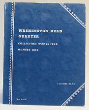 WHITMAN US COIN BOOK # 1 WASHINGTON HEAD QUARTERS 1932 to 1945 folder 9018 v2