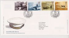 GB ROYAL MAIL FDC FIRST DAY COVER 2001 SUBMARINES STAMP SET BUREAU PMK