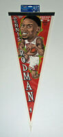 1997 BULLS Dennis Rodman caricature pennant Chicago MINT carded orig The Worm