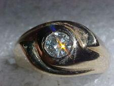 KNOCKOUT 14K GOLD .88 CARAT DIAMOND RING SIZE 9 & HEFTY 9.4gr  FREE SHIPPING !