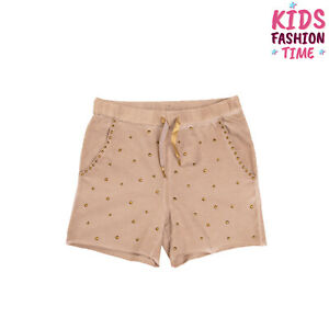 MISS GRANT Sweat Shorts Size 10Y Stretch Beige Studded