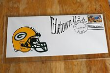 GREEN BAY PACKERS COACH VINCE LOMBARDI HELMET First Day Cover FDC 1997 TITLETOWN