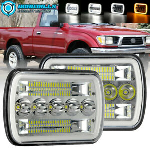 """5x7"""" 7x6"""" Inch LED Headlights Hi/Lo Beam DRL For Toyota Hilux Jeep Truck 1 Pair"""