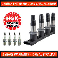 Ignition Coil Pack & 4x Genuine NGK Spark Plugs for Holden Cruze JG JH 1.8L F18D
