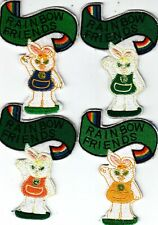 Girl Guide Badges RAINBOW FRIENDS blue+green+orange+yellow Tabards