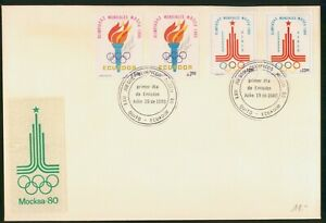 Mayfairstamps Ecuador FDC 1980 Olympics Mockba Combo First Day Cover wwp_58427