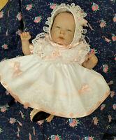 "DREAM 3-5 lb EARLY BABY  FRILLY DRESS knickers bonnet   OR  14-16"" REBORN DOLLS"