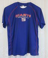 Men NFL Team Apparel NY New York Giants Short Sleeve Active T Shirt Blue 3X EUC