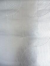 SILVER FOIL  GEOMETRIC     Wallpaper     1 Metre         RETRO VINTAGE