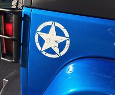 (1) JEEP WRANGLER Oscar Mike US ARMY Willys STAR Pick Your Color STICKER Decal