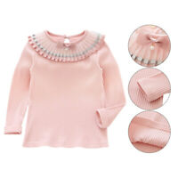 Baby Kid Girl Long Sleeve Casual T shirts Kid Autumn Crew Neck Loose Tops Blouse