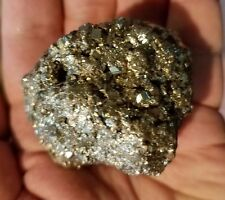 A Larger Nice and 100% Natural Rhombic PYRITE Crystal Cluster Peru 11.6 onces m