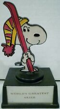 Aviva Peanuts Snoopy World's Greatest Skier Trophy