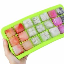Ice Cube Tray with Cover 21 Cups Ice Silicone Molds Safe Clean Ice Making Moulds