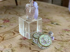 Vintage Mini Dollhouse Artisan Lavender Bath Crystals Parisian Bath Soaps Powder