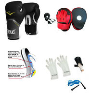 FOCUS PADS & BOXING BAG PUNCHING GLOVES MMA TRAINER SET KICKBOXING PT 12oz