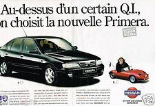 Publicité advertising 1996 (2 pages) Nissan Primera