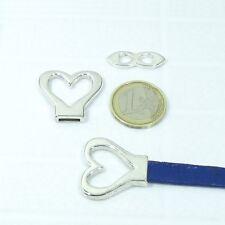 5 Set de Cierres Para Cuero 26mm T547 Plata Tibetana Clasps Spange Beads Fecho