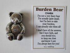 A Burden Bear TEDDY FIGURINE CHARM carry in your pocket faith comfort grief help