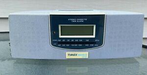 TIMEX T478G INDIGLO Night-Light AM/FM Stereo Alarm Clock Radio Cassette WORKING!