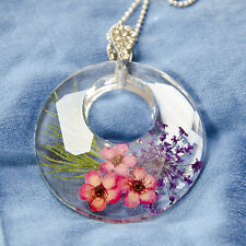 HAND MADE JEWELLERY,REAL FLOWERS  PENDANT-RING