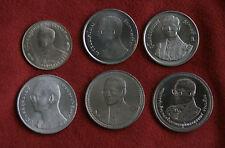 King Bhumibol Adulyadej Rama IX Birthdays 6 Coin Set 1963 - 2007 Thailand a