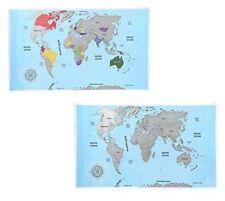 Gran Rasca Mapa Mundial Para Viajero registro de viaje personalizado Regalo Atlas