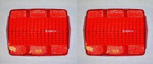 New! 1965-1966 Mustang Tail Light Lens Lenses, Both Left & Right W/ Logo Fomoco