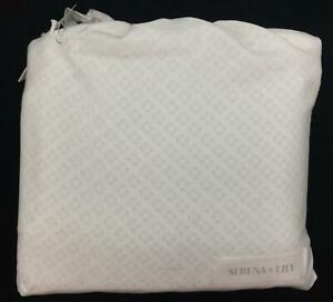Serena and Lily SHS77-Q White Size Queen Cut Circle Sheet Set