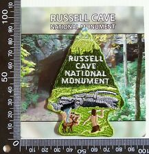 VINTAGE RUSSELL CAVE NATIONAL MONUMENT SOUVENIR PATCH WOVEN CLOTH SEW-ON BADGE