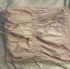 Simply Shabby Chic Pink Smocked Ruched Ruffle Standard Pillow Sham Cottage