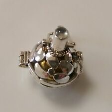 Sterling Silver Decorative Harmony Ball With Moonstone feature.