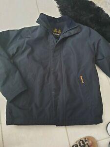 Boys navy barbour jacket l 11-12 yrs waterproof