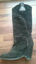 Miss Sixty Wildleder Stiefel 39 schwarz Boho Vintage Rockabilly Cowboy Sammler