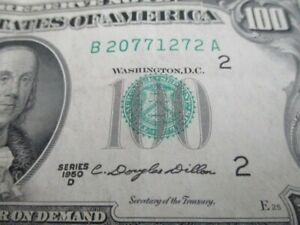 1950-D-  $100 FEDERAL RESERVE NOTE...