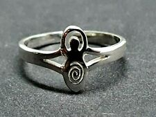 Goddess Toe Ring Gaia Sterling 925 Silver Adjustable Pagan Wiccan Boho