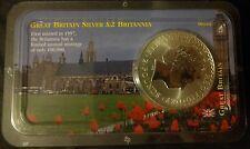 Britannia 2000 1 oz Silver Coin £2 - Littleton Packaging
