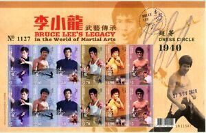 Hongkong 2020 Bruce Lee Schauspieler Kino Action Filme Cinema Kleinbogen MNH