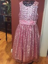 American Princess Girls Sz. 12 14 Shimmery Pink Spevial Occasion Dress Holidays