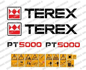 TEREX PT5000 DUMPER DECALS
