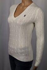 Ralph Lauren Cream V-Neck Wool Angora Sweater NWT