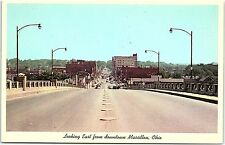 Postcard OH View Of Massillon Looking East From New Lincoln Way Viaduct J19A