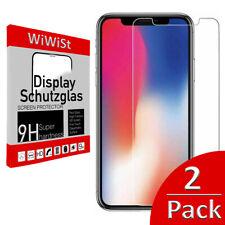 2 x Panzerfolie iPhone X  XR XS XS MAX 11 11 Pro Max Premium Schutzglas