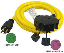 20A 10Ft Generator L14-20P Extension Cord 20500-010