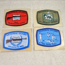 Vinyl Rubber National Guard Raised Sticker Patches Marksmenship Air Rifle Tyro
