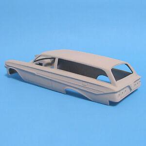 Jimmy Flintstone 1961 Impala 2 Door wagon body and hood 1/25 scale resin NB271