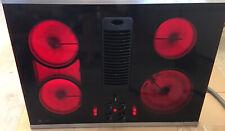GE Profile Cooktop JP989SK1SS Downdraft Electric Black Used