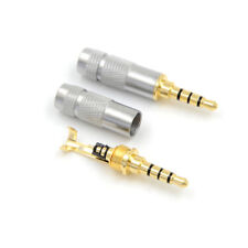 4 Pole 3.5mm Stereo Headphone Male Plug Jack Audio Solders Connector Fa MR